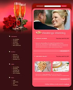 Wedding Blog WordPress Themes by Delta
