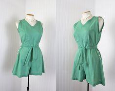 Vintage c. 1940s green gym suit. #vintage #sports #athletics #fashion