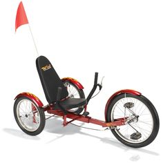 The Three Wheel Recumbent Cruiser - Hammacher Schlemmer