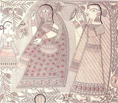 Riding the Rollercoaster with Ganga Devi - 50 Watts Madhubani Art, Madhubani Painting, Types Of Painting, Painting Styles, Craft Museum, Indian Folk Art, Embroidery Works, Fashion Painting, Traditional Paintings