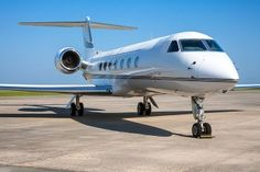 The Gulfstream G550 earns accolades from business jet charter clients. This heavy twin-engine American business jet is produced by Gulfstream Aerospace and was introduced in 2003. Its ultra-long range was the longest in the heavy jet class at 7,760 miles. Unique to Gulfstreams are extra-large, sunny oval windows. The Gulfstream G550 accommodates a crew of two pilots and up to 19 passengers. It also has the capacity for storing all the luggage you could possibly need.
