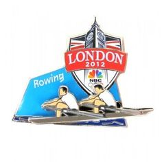 Price: $15.99 - 2012 Olympics NBC Rowing Pin - TO ORDER, CLICK ON PHOTO