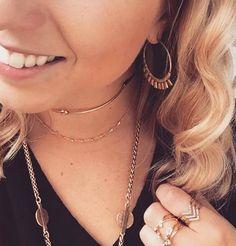 #chokers #dainty #jewellery #jewelry #stelladotstyle #fashion #layering #gold #hoops