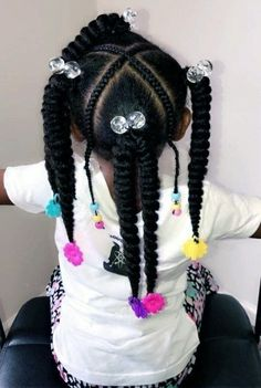 Black Kids Hairstyles with Beads – New Natural Hairstyles Lil Girl Hairstyles, Black Kids Hairstyles, Natural Hairstyles For Kids, Kids Braided Hairstyles, Girl Haircuts, Short Haircuts, Toddler Hairstyles, Hairstyles 2016, Ponytail Hairstyles