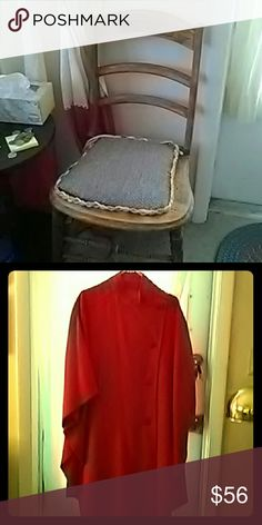 Red wool cape. Stand up collar, pockets. Perfect for any season! Very little wear. no brand listed   Jackets & Coats Capes
