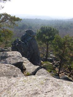Rocher de la Dame Jouanne, haut de 15 mètres