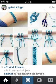 Leuk om te maken als armbandje