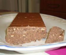 Turrón de chocolate y galletas
