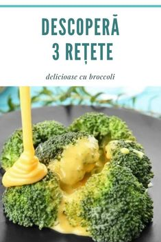 Iată încă 3 #modalități noi de a găti #brocooli care te ajută să te bucuri de gustul și #beneficiile acestei #legume #sănătoase.  Cooking Recipes, Healthy Recipes, Food And Drink, Cookies, Vegetables, Drinks, Handmade, Vitamins, Health Recipes