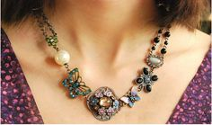 Alexis Bohemian Vintage Statement Necklace by JewelryTee on Etsy