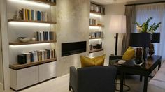 City apartment library area