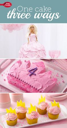 Three types of cakes for your princess's birthday!
