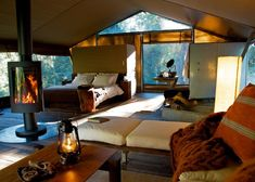 A terrific collection of the best 'glamping' experiences around Australia, including nightfall camp.  http://www.heraldsun.com.au/travel/australia/aussie-glamping-14-of-the-best/story-fnjjuyvc-1227081624270?nk&nk=7f6c85b6fc0ab097bfe4643fcee73342