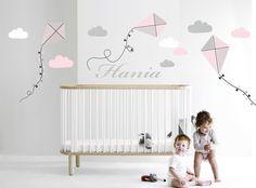 Kolorowe latawce naklejka na ścianę niebo imię  - moreclock - Naklejki na ścianę dla dzieci Hani, Etsy, Home Decor, Decoration Home, Room Decor, Home Interior Design, Home Decoration, Interior Design