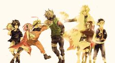 Sasuke, Sakura, Naruto, Kakashi, Minato, Rin, and Obito :D :D they are all awesome :D