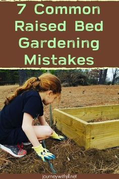 Gardening For Beginners Gardening in raised beds is a perfect option for beginning gardeners and seasoned gardeners alike. But to get the best harvest and the most rewarding gardening experience, avoid these seven common raised bed gardening mistakes. Raised Vegetable Gardens, Home Vegetable Garden, Veggie Gardens, Raised Bed Gardens, Planting Raised Garden Beds, Raised Bed Garden Layout, Raised Herb Garden, Plants For Raised Beds, Vegetable Bed