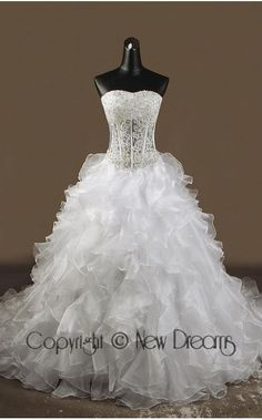 abito da sposa V3002-lace and organza wedding dress-ball Gown style v3002