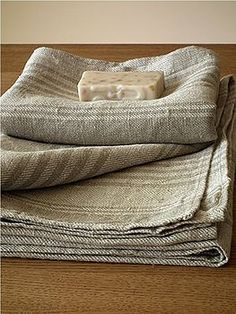 Highest quality Set of 4 Natural Striped Huckaback Linen Bath Towels Linum from LinenMe shows elegance, style and sophistication of the owner. Buy similar LinenMe products in Huckaback Towels Sets range. Bathroom Towels, Bath Towels, Linen Fabric, Linen Bedding, Bed Linen, Bedding Sets, Linen Towels, Bathroom Collections, Linens And Lace