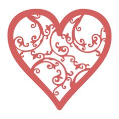 Filigree heart svg repost with updated file