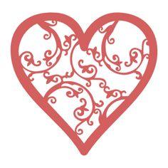 Free SVG cut file patterned heart