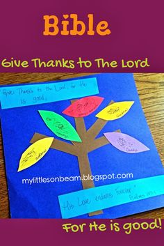 My Little Sonbeam: November Week 3&4 Bible craft and activity: giving thanks to our Lord! Thankful (Thanksgiving) tree. Mylittlesonbeam.blogspot.com {homeschool preschool learning activities}