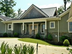 stucco house with metal roof - Google Search