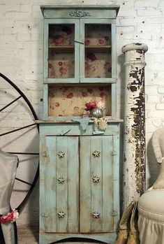 Aqua Farmhouse Cupboard