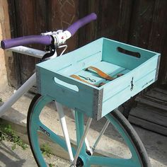 Houten Fietskrat Gotham Cargo Baskets - X6Lifestyle