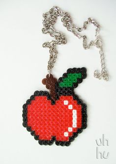 Geeky Apple Necklace by UHHU on Etsy, €7.00