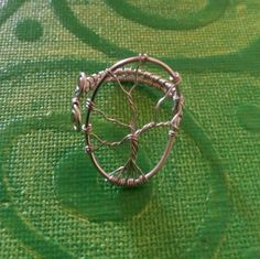 Silver tree of life ring.hand made in Ireland. by terramor on Etsy Wire Rings, Tree Of Life, Cuff Bracelets, Ireland, Trending Outfits, Unique Jewelry, Handmade Gifts, Silver, How To Make