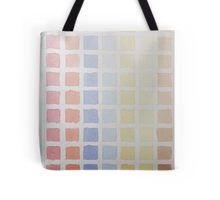 Tote Bag - Rainbow Rows -  #rainbow #colour #colorrows #watercolour #multicolored #squares #paint #pallet #shapes #tonal #fade #pale #blue #yellow #red #orange #light #shades #lines #block #color