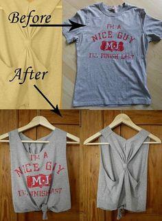 DIY tshirt crop top