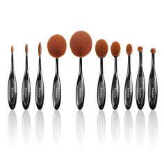 #Deals - $19.99 (#coupon AGOACYNC) for Toothbrush Shape 10pcs Makeup Brush Set – Similar quality to #MAC #Sigma #Makeup Brushes!! amzn.to/1pEZ312