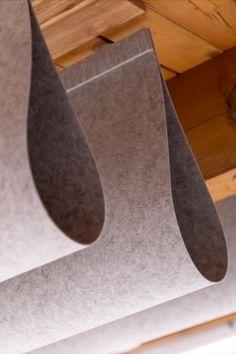 Ceiling Light Design, Ceiling Lights, Baffle Ceiling, Acoustic Ceiling Panels, Acoustic Baffles, Acoustic Design, Dropped Ceiling, Parametric Design, Office Environment