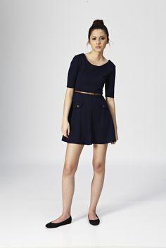 Pocket Ponti Skater Dress