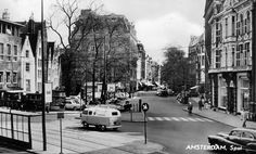 1960. A view of the Spui in Amsterdam. The Spui is a square in the center of the city. The Spui was originally a body of water that formed the southern limit of the city until the 1420s, when the Singel canal was dug as an outer moat around the city. In 1882 the Spui was filled in and became the square that we know today. #amsterdam #1960 #Spui