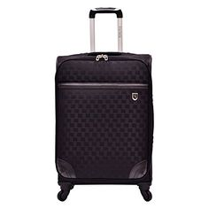 Beverly Hills Country Club Frankfort 26 in. Medium Woven Jacquard Lightweight Expandable Spinner Luggage #deals