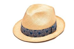 Christy's Yorkie Snap Brim Panama with cotton band