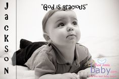 "The baby name Jackson means ""God is gracious"""