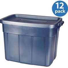 New! Storage Box Rubbermaid 18-gallon Set Of 12 Moving Shipping Office Supplies
