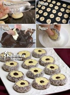 Flowers of Chocolate Cookie Recipe Cake Recipes, Dessert Recipes, Chocolate Cookie Recipes, Cookie Time, Sweet Cookies, Dessert Decoration, Pastry Cake, Turkish Recipes, Ice Cream Recipes