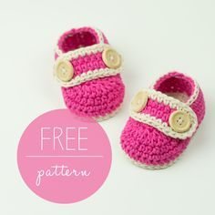 Crochet Baby Booties Pretty In Pink – http://crobypatterns.com/pretty-in-pink-free-pattern/