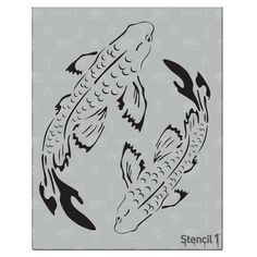 This easy-to-use Koi Stencil from is perfect for walls, home decor, clothing and more. Each stencil is cut high quality in order to provide a long lasting design. The possibilities of what you can create with a stencil are endless. Cool Art Drawings, Pencil Art Drawings, Art Drawings Sketches, Easy Drawings, Laser Cut Stencils, Posca Art, Painting & Drawing, Painting Walls, Wow Art