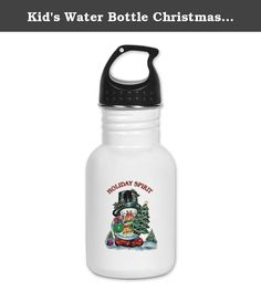 Kid's Water Bottle Christmas Spirit Snowman with Tree. Product Number: 0001-1632096429 Perfect for school lunches or soccer games, our kid's stainless steel water bottle quenches children's thirst for individuality. Personalized for what kids love, it's both eco-friendly and compact. Made of 18/8, food-grade stainless steel. * No lining & no BPA or other toxins * Wide mouth for easy drinking * Durable, BPA-free & phalate-free screw-on top * Holds 0.35L (nearly 12 ounces) * Thin profile to...