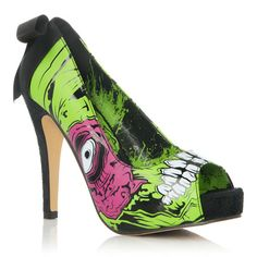 SO cute! Want them for Halloween! PERFECT with a black dress and crazy makeup! #heels #halloween