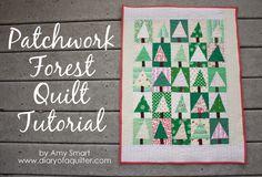 Patchwork Tree Quilt Block Tutorial