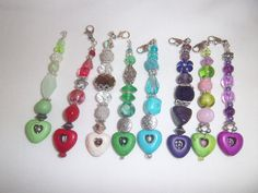 Heart Beaded Zipper Pull / Purse Charm / Bag by TheCraftRoomStore, $5.00