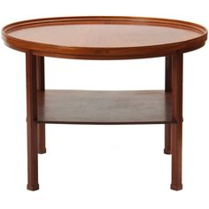 Coffee/occasional table in solid mahogany by Kaare Klint, constructed by Rud. Rasmussens cabinetmaker. Model 6687, designed in 1943.