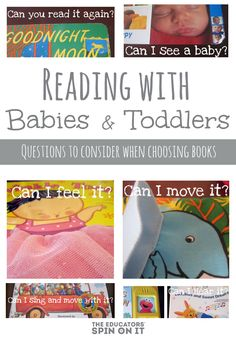 The Educators' Spin On It: Baby Time: Tips for Reading Books to an Active Baby or Toddler Best Toddler Books, Toddler Fun, Toddler Preschool, Reading Activities, Infant Activities, Activities For Kids, Books To Read, Reading Books, Reading Lists