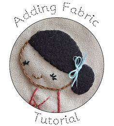 tutorial: adding fabric to an embroidery pattern